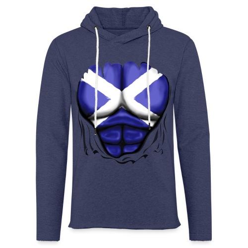 Scotland Flag Ripped Muscles, six pack, chest t-shirt - Light Unisex Sweatshirt Hoodie