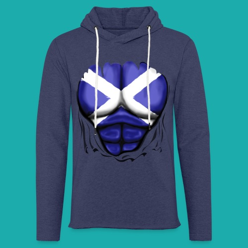Scotland Flag Ripped Muscles, six pack, chest t-shirt - Light Unisex Sweatshirt Hoodie
