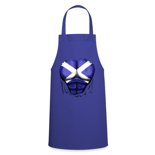 Scotland Flag Ripped Muscles, six pack, chest t-shirt - Cooking Apron