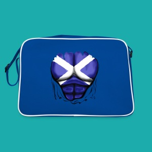 Scotland Flag Ripped Muscles, six pack, chest t-shirt - Retro Bag