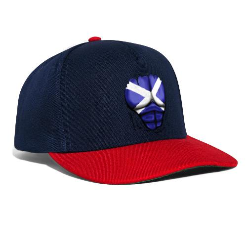 Scotland Flag Ripped Muscles, six pack, chest t-shirt - Snapback Cap