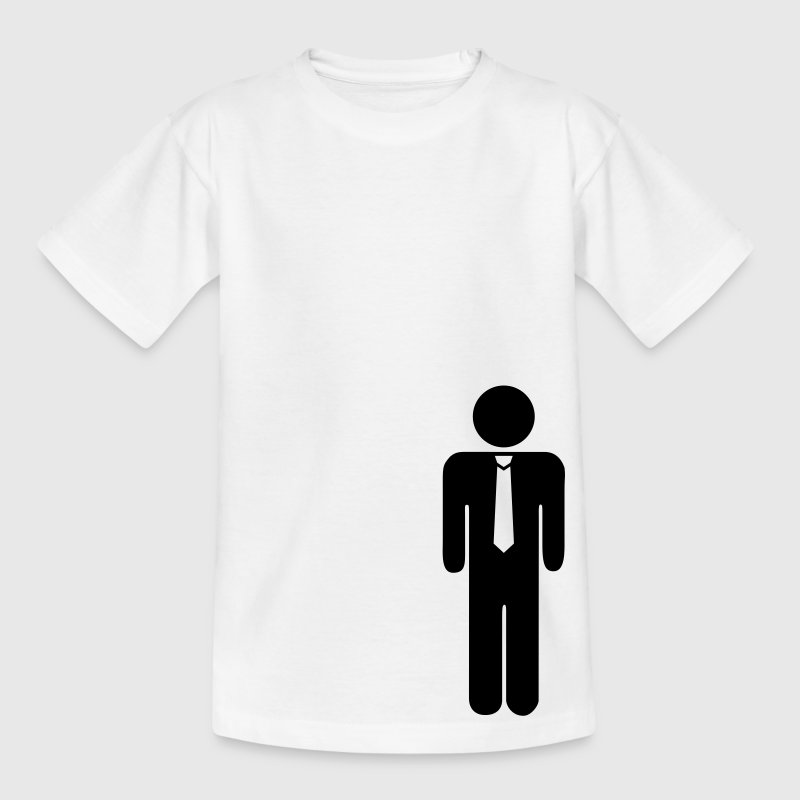 White cravat, tie, office Kids' Shirts - Teenage T-shirt