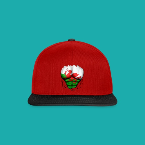 Wales Flag Ripped Muscles, six pack, chest t-shirt - Snapback Cap