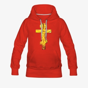 Russisches Kreuz orthodox Gold / Russian Cross Männer T-Shirt - Frauen Premium Hoodie
