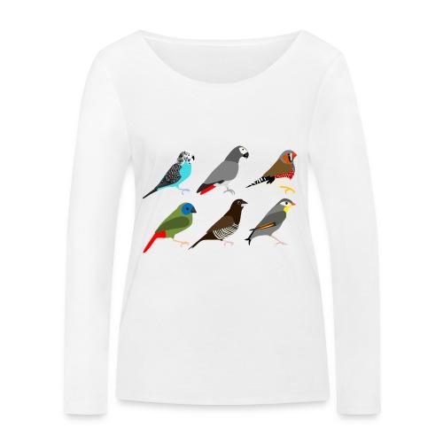 Vogels - Vrouwen bio shirt met lange mouwen van Stanley & Stella