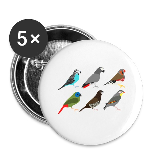 Vogels - Buttons groot 56 mm