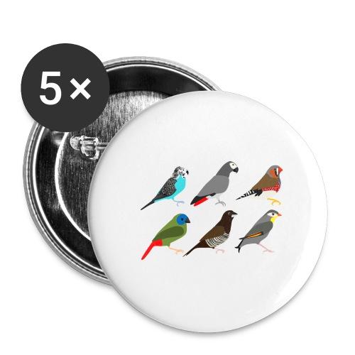 Vogels - Buttons middel 32 mm