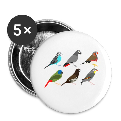 Vogels - Buttons klein 25 mm