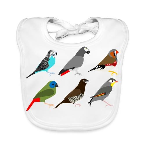 Vogels - Bio-slabbetje voor baby's