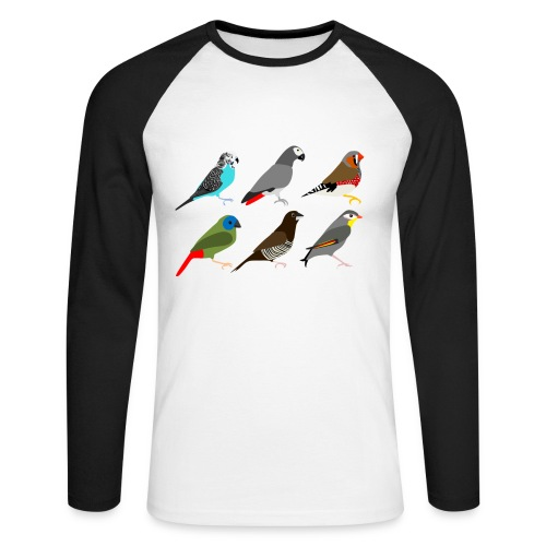 Vogels - Mannen baseballshirt lange mouw