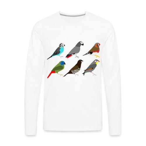 Vogels - Mannen Premium shirt met lange mouwen