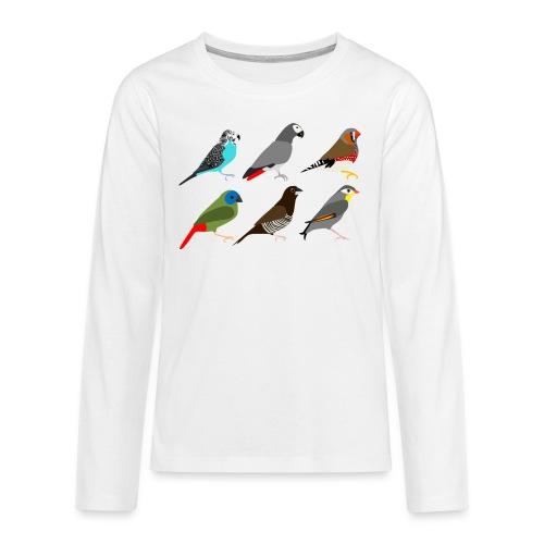 Vogels - Teenager Premium shirt met lange mouwen