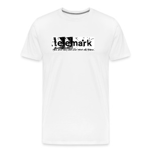 T-Shirt telemark - free your heel and your mind will follow - Männer Premium T-Shirt