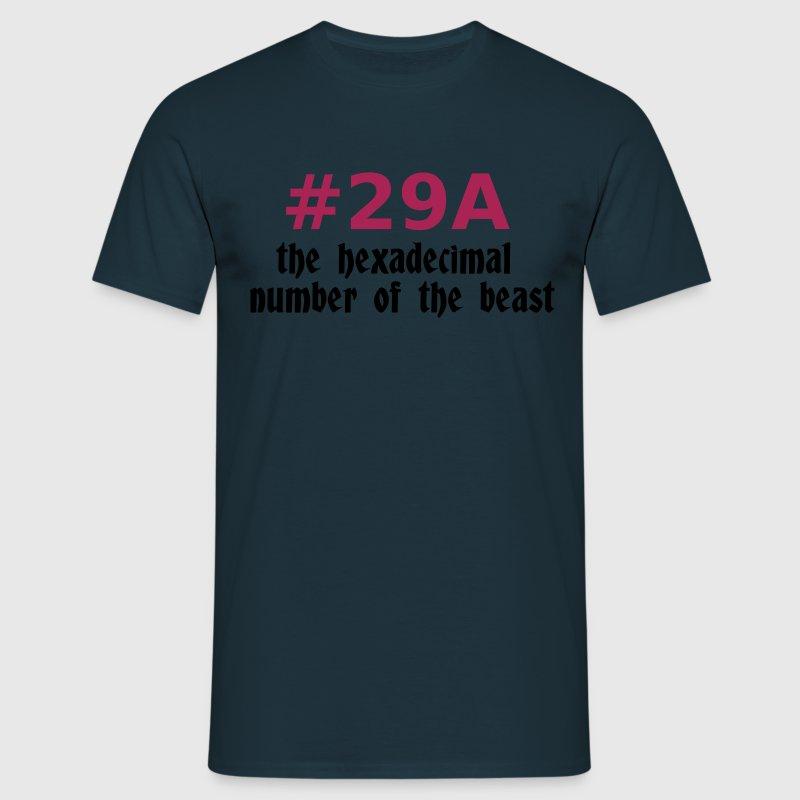 666 - satan - devil - the hexadecimal  number of the beast T-Shirts - Männer T-Shirt