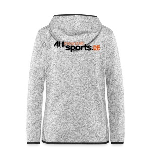 Girlie-Shirt ALLmountainSPORTS.de - Frauen Kapuzen-Fleecejacke