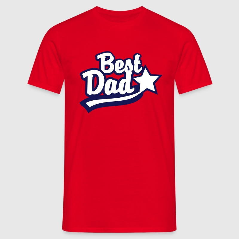 Best Dad Star T-Shirt - Maglietta da uomo