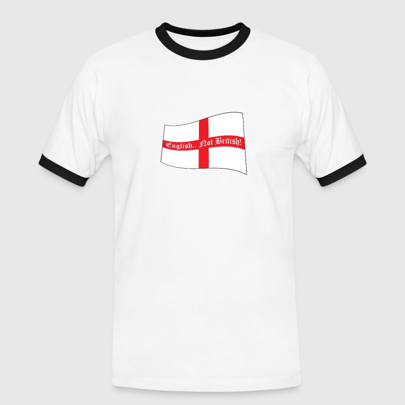 English.. Not British! - Men's Football Fan T-Shirt - Men's Ringer Shirt