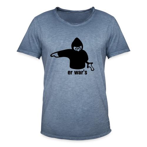 Er war's - Männer Vintage T-Shirt