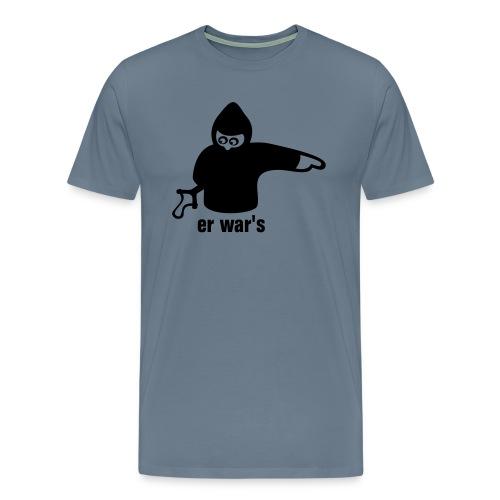 Er war's - Männer Premium T-Shirt