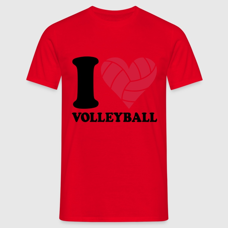 I love Volleyball T-Shirts - Men's T-Shirt