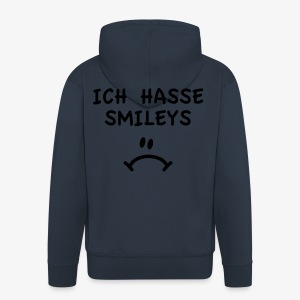 Ich hasse Smileys - Männer T-Shirt navy + alle Farben - Männer Premium Kapuzenjacke