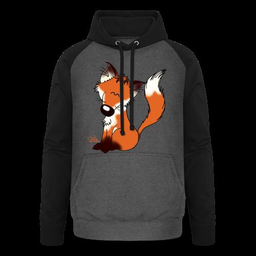 Foxy Fuchs (freche Farben) - Unisex Baseball Hoodie