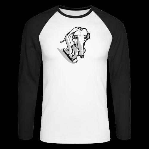 Baseballkappe  , skatender Elefant - Männer Baseballshirt langarm
