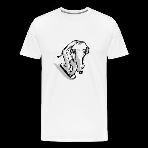 Baseballkappe  , skatender Elefant - Männer Premium T-Shirt