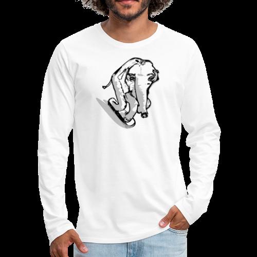 Baseballkappe  , skatender Elefant - Männer Premium Langarmshirt