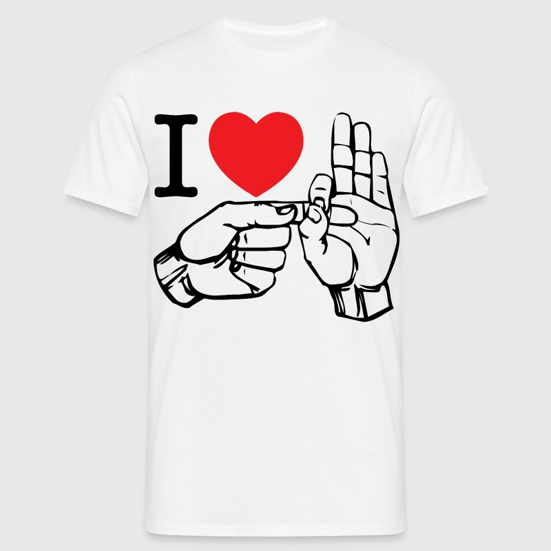 i love fucking (white) - Männer T-Shirt