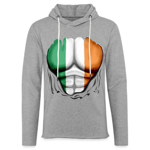 Ireland Flag Ripped Muscles, six pack, chest t-shirt - Light Unisex Sweatshirt Hoodie