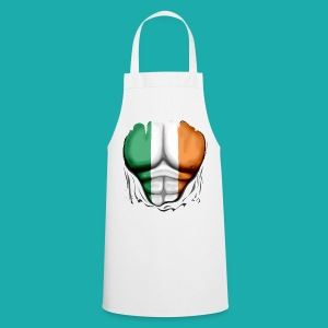 Ireland Flag Ripped Muscles, six pack, chest t-shirt - Cooking Apron