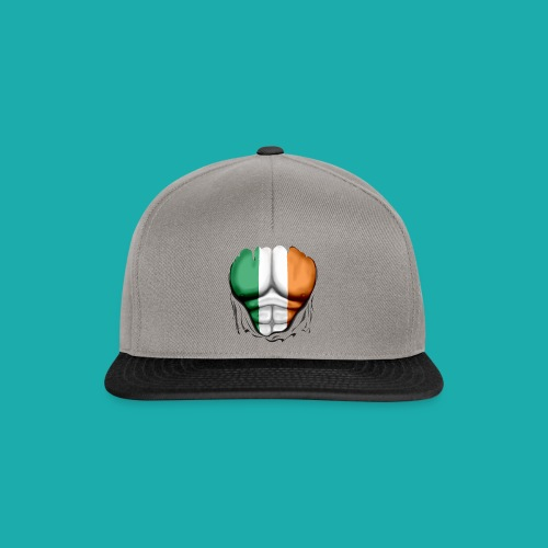 Ireland Flag Ripped Muscles, six pack, chest t-shirt - Snapback Cap