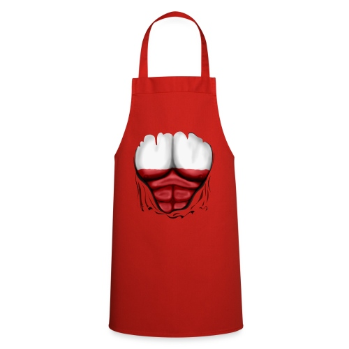 Poland Flag Ripped Muscles, six pack, chest t-shirt - Cooking Apron