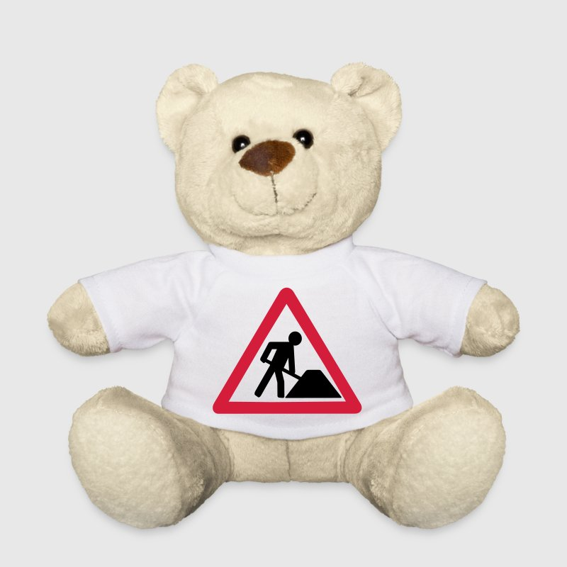 Under construction, signs, Schilder, Bau, Bauarbeiter, Baustelle, PC, Internet, Symbole, eushirt.com Teddy - Teddy