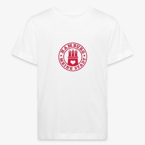 HAMBURG MEINE STADT Wappen Herz HH Anstecker / Button - Kinder Bio-T-Shirt