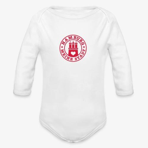 HAMBURG MEINE STADT Wappen Herz HH Anstecker / Button - Baby Bio-Langarm-Body