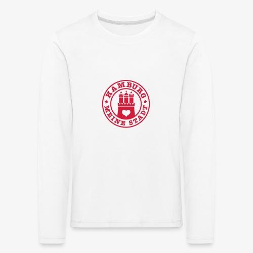 HAMBURG MEINE STADT Wappen Herz HH Anstecker / Button - Kinder Premium Langarmshirt