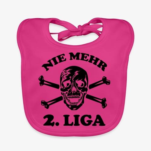 NIE MEHR 2. LIGA mit Totenkopf / Tattoo Männer T-Shirt schwarz - Baby Bio-Lätzchen