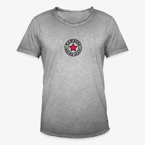HAMBURG MEINE STADT Stern Star HH Anstecker / Button - Männer Vintage T-Shirt