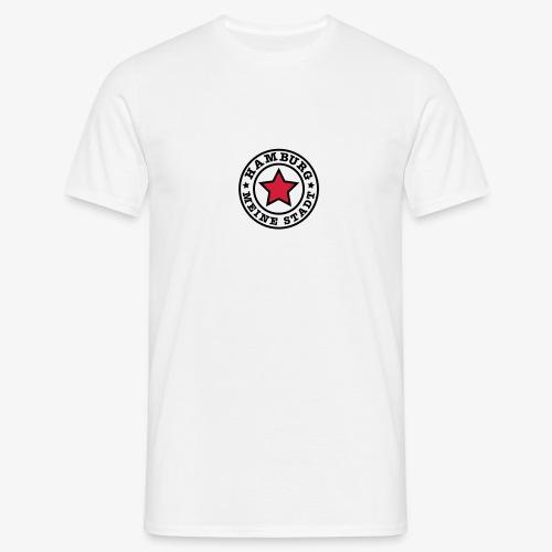 HAMBURG MEINE STADT Stern Star HH Anstecker / Button - Männer T-Shirt