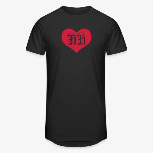 BEIDSEITIG!!! I LOVE HH Herz Heart / Hamburg 1c Männer T-Shirt schwarz - Männer Urban Longshirt