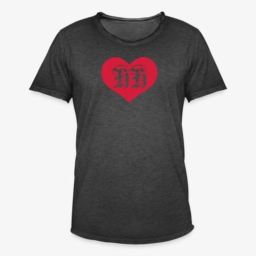 BEIDSEITIG!!! I LOVE HH Herz Heart / Hamburg 1c Männer T-Shirt schwarz - Männer Vintage T-Shirt