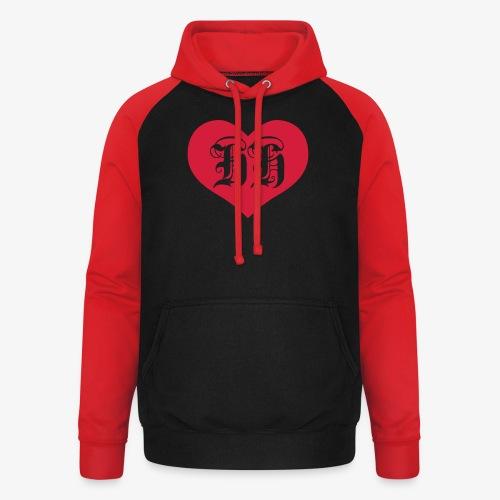 BEIDSEITIG!!! I LOVE HH Herz Heart / Hamburg 1c Männer T-Shirt schwarz - Unisex Baseball Hoodie