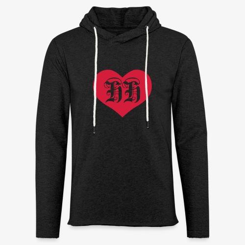 BEIDSEITIG!!! I LOVE HH Herz Heart / Hamburg 1c Männer T-Shirt schwarz - Leichtes Kapuzensweatshirt Unisex