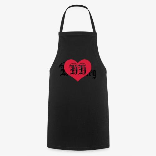 BEIDSEITIG!!! I LOVE HH Herz Heart / Hamburg 1c Männer T-Shirt schwarz - Kochschürze