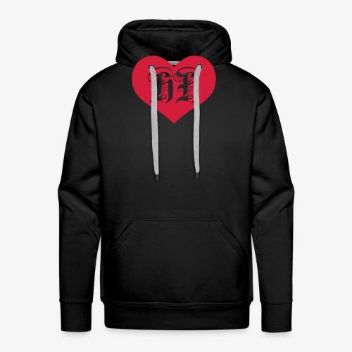 BEIDSEITIG!!! I LOVE HH Herz Heart / Hamburg 1c Männer T-Shirt schwarz - Männer Premium Hoodie