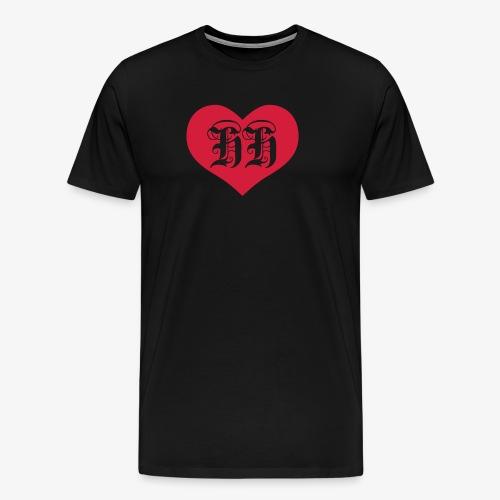 BEIDSEITIG!!! I LOVE HH Herz Heart / Hamburg 1c Männer T-Shirt schwarz - Männer Premium T-Shirt