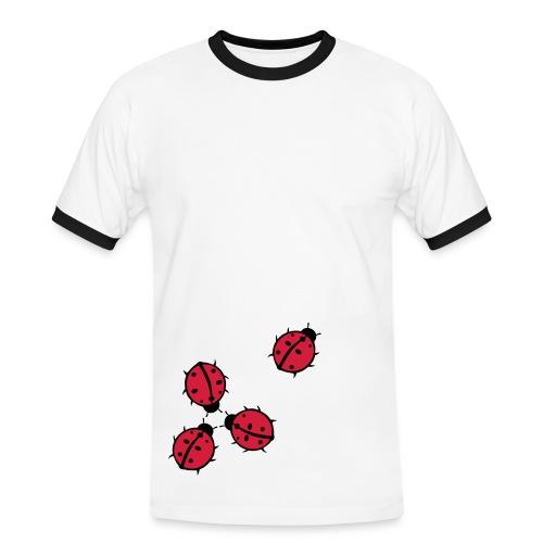 Marienkäfer - Männer Kontrast-T-Shirt