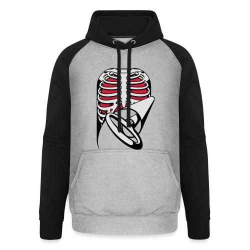 Skeleton Key, bones, chest t-shirt, ribs - Unisex Baseball Hoodie